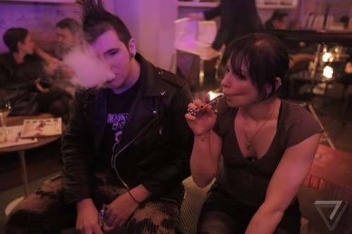 Thank you for vaping: New Yorkers protest the new e-cig ban at Museum of Sex