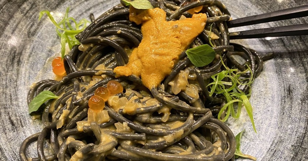 A Japanese Restaurant Is Serving Uni-Topped Squid Ink Noodles in the Pearl District