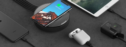 Nomad's new wireless charger is also a four-port USB hub