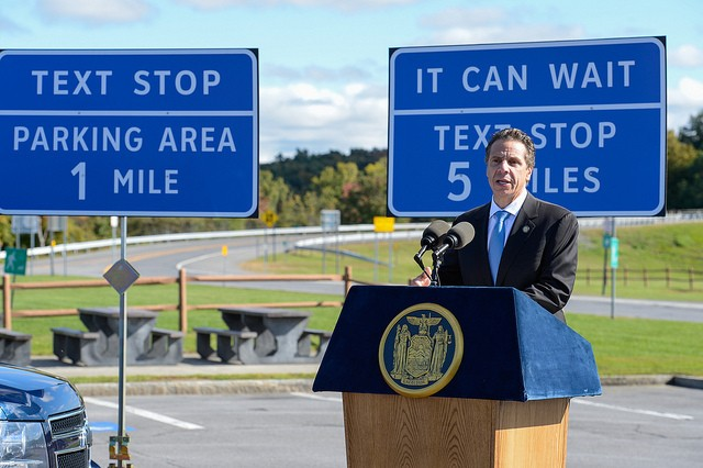 New York unveils 'text stops' to curb crashes by distracted drivers