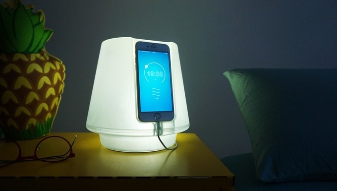 This lamp is illuminated by your phone's LED