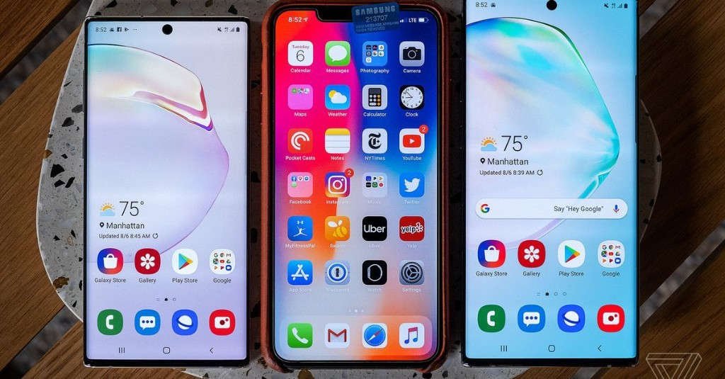 Samsung Galaxy Note 10 vs. Galaxy S10 vs. iPhone XS: comparing three small-ish flagship phones