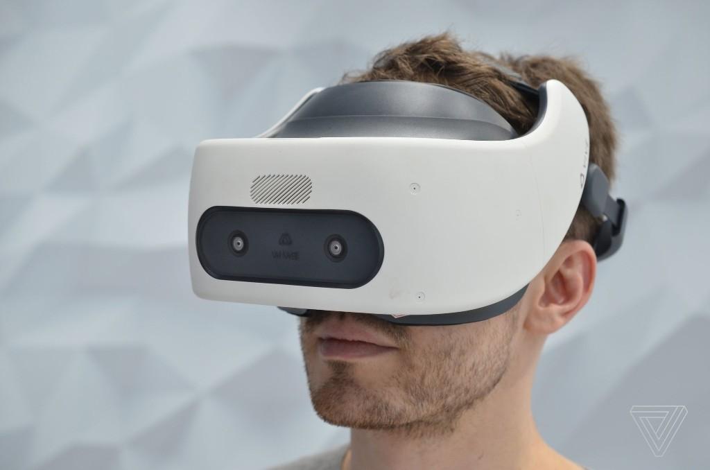 HTC's latest VR headest doesn't need external trackers, but it feels like it does