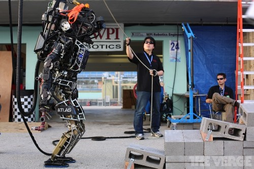Tomorrow's robots drive, climb, and drill through walls at DARPA trials