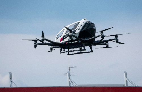 Pilotless air taxi from China's Ehang takes flight in the US for the first time