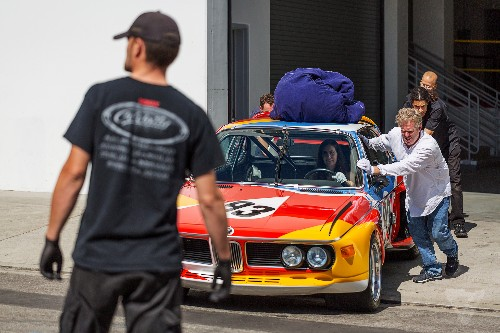 What it's like to take an exclusive ride in a BMW art car