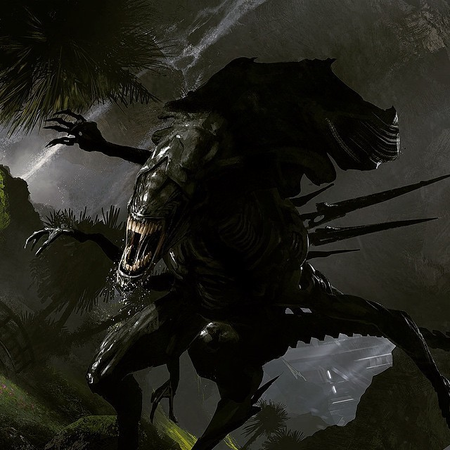 The director of District 9 reveals concept images from his secret Alien movie project