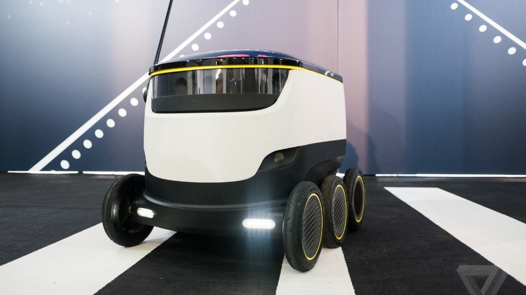 Hanging out with the adorable Starship delivery robot