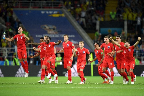 England slay their demons, beat Colombia on penalties