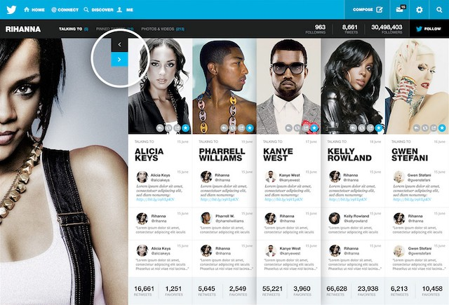 Concept Twitter redesign brings rich profile pages to the social network