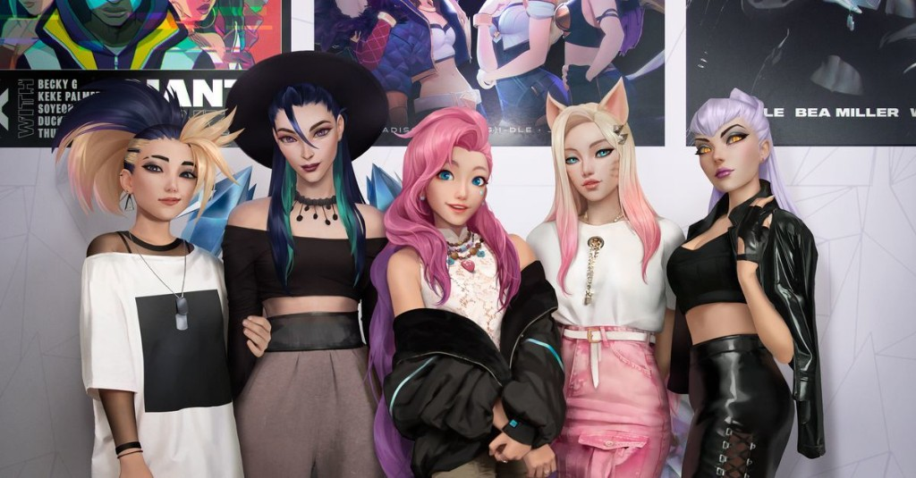 League of Legends' fictional pop group K/DA is working on a song with fictional influencer Seraphine