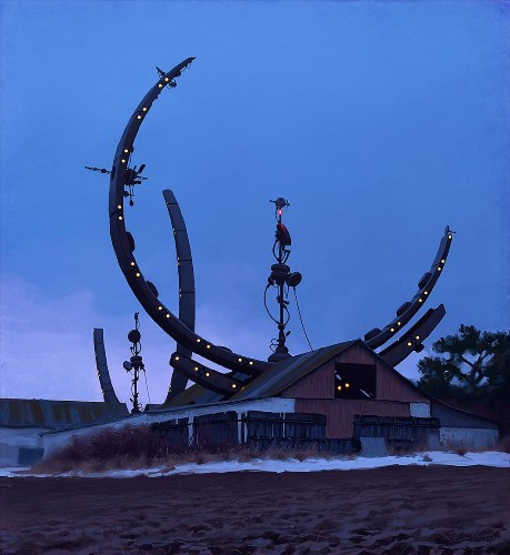 Incredible paintings of sci-fi suburbia will make you wish you were Swedish