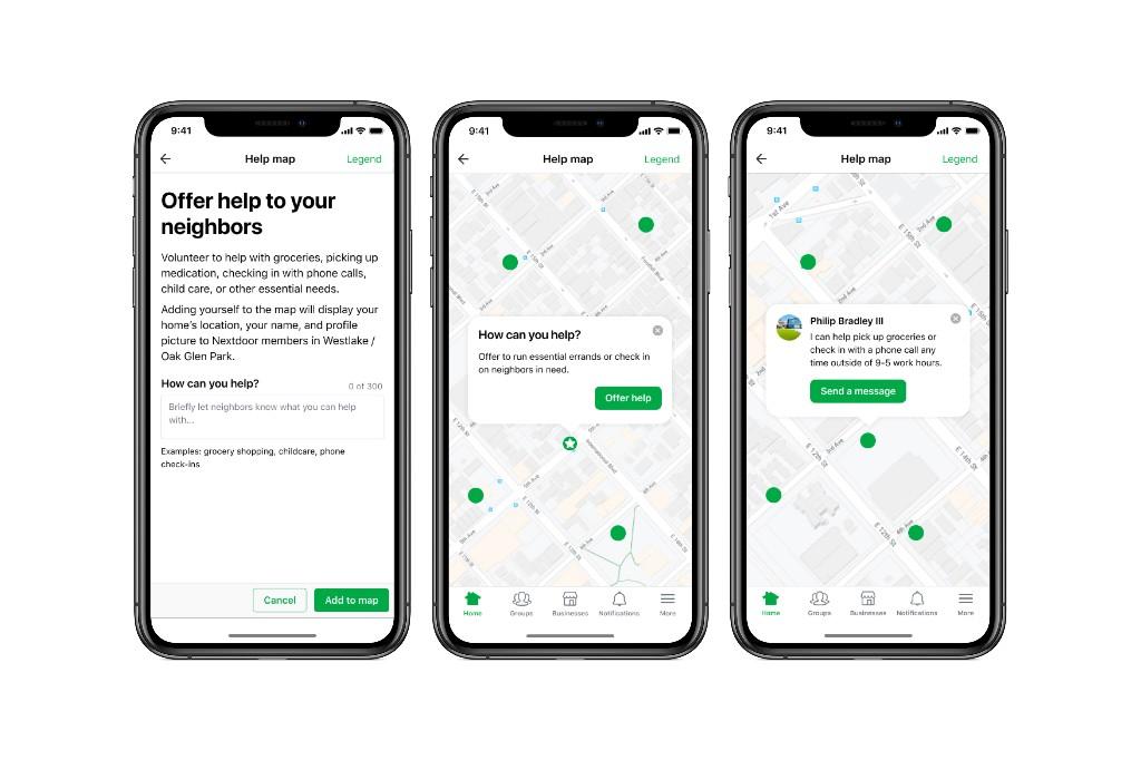 Nextdoor adds features to help neighbors during the coronavirus crisis