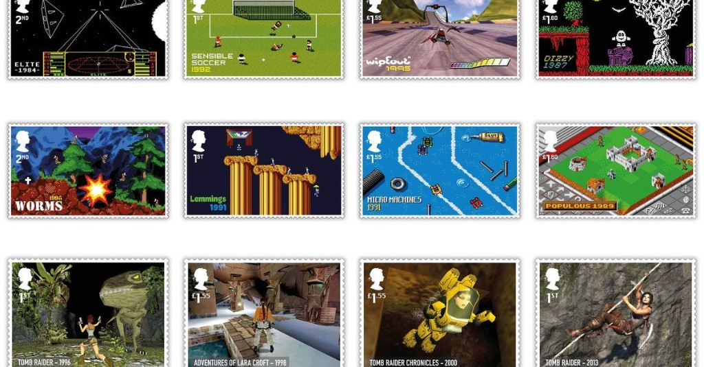 Lemmings, Worms, and Tomb Raider celebrated in new British postal stamps