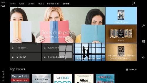 Microsoft to add ebook store to Windows 10