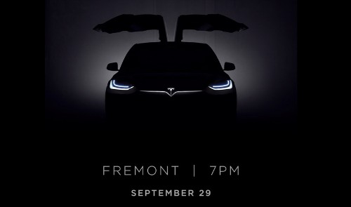 Tesla is officially launching the Model X at an event on September 29th