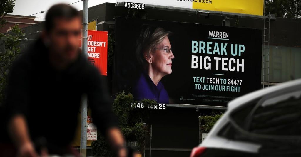 Even Elizabeth Warren's voters don't care about breaking up Big Tech