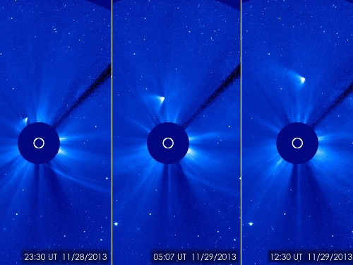 Comet ISON reappears in new NASA images, scientists say nucleus 'may still be intact'