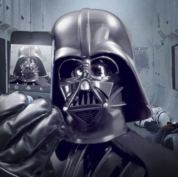'Star Wars' launches official Instagram account with Darth Vader selfie