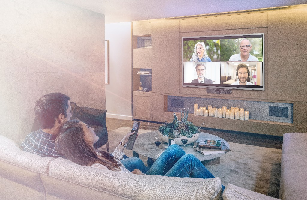 This custom webcam system lets you take Zoom calls on your TV from your couch
