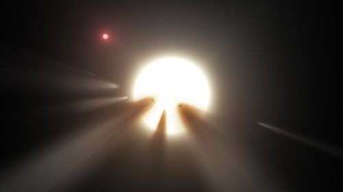 'Alien megastructures' orbiting distant star are most likely comets, as expected