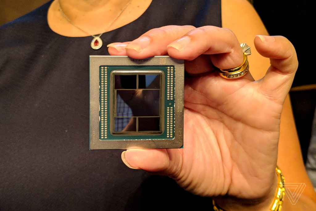 This is the first 7nm GPU, equipped with 32GB of memory