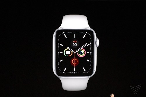 Apple Watch Series 5 has an always-on display and comes in titanium or ceramic finishes