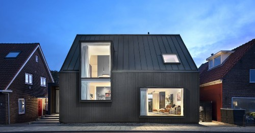 Modern gabled house updates a tradition