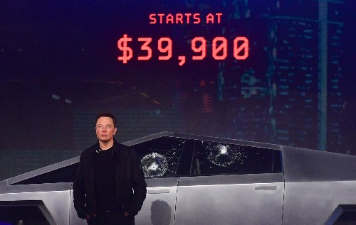 Elon Musk explains why Tesla's Cybertruck windows smashed during presentation
