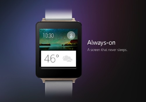 LG's G Watch is always-on and water resistant