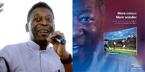 Pelé sues Samsung for $30 million over 'lookalike' ad