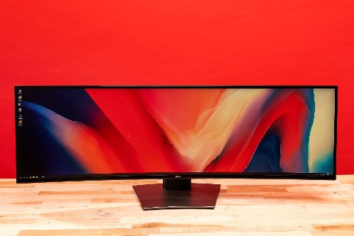 A 49-inch ultrawide monitor is extravagant, ridiculous, and amazing
