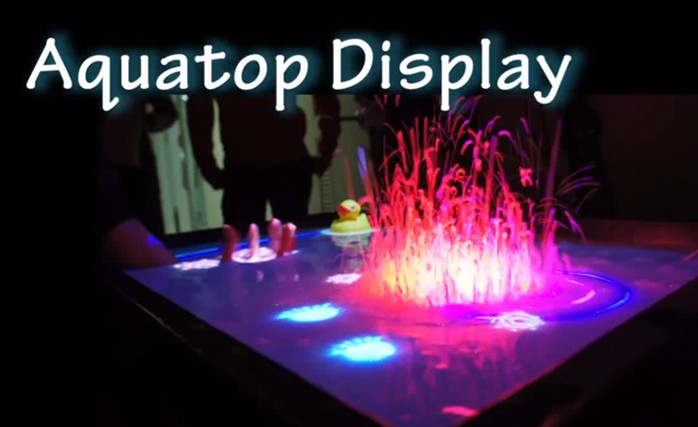 Kinect turns your bathtub into a giant liquid touchscreen