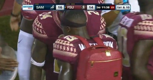 FSU football debuts 'turnover backpack' versus Samford