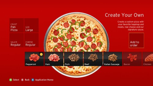 Pizza Hut delivery app for Xbox 360 and Kinect lets you gesture and yell for food