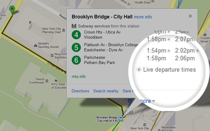 Google brings real-time NYC subway schedule data to Google Maps