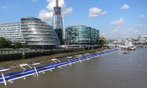 Floating bike highway proposed for London's River Thames