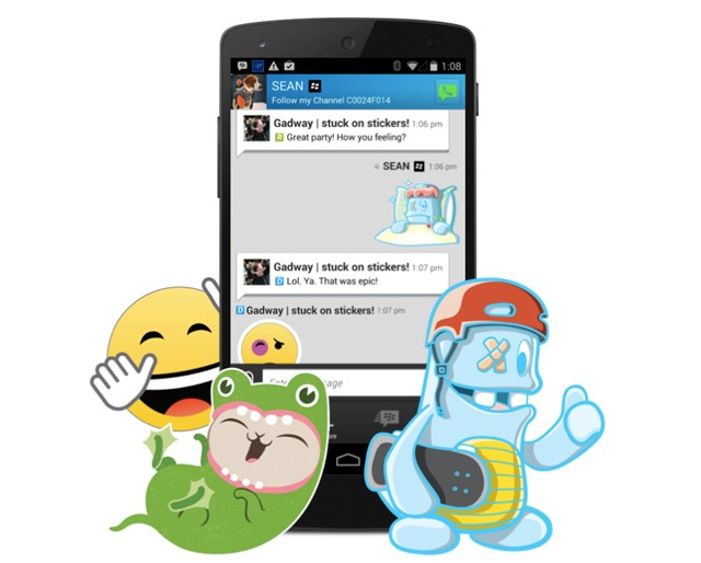 Not using BBM? BlackBerry hopes that stickers will make you start
