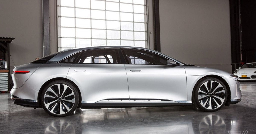 Lucid Motors says its electric sedan can hit a quarter-mile in under 10 seconds, smashing Tesla's record