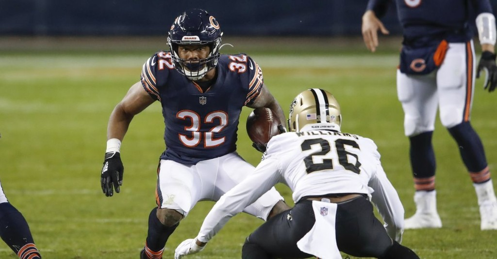 David Montgomery's return means Bears' run game will be slightly better vs. Packers