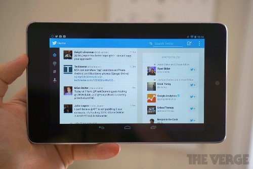 Twitter's tablet-optimized Android app leaks out