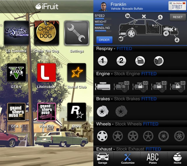 Rockstar's iFruit app lets you customize 'Grand Theft Auto V' vehicles outside of the game