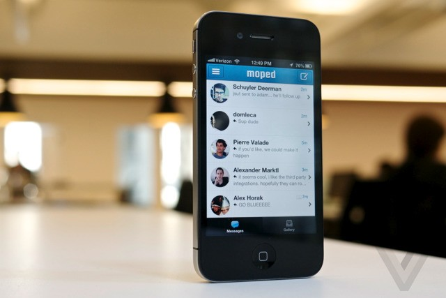 Moped: cross-platform messaging plugged into Dropbox, Foursquare, and Aviary