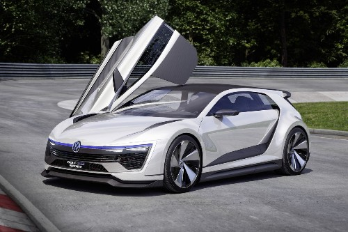 Volkswagen's new Golf concept has gullwing doors and 395 horsepower