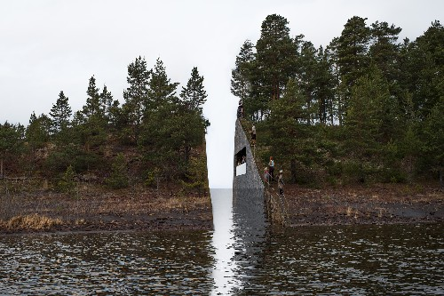 Norway will cut through an island in tribute to massacre victims