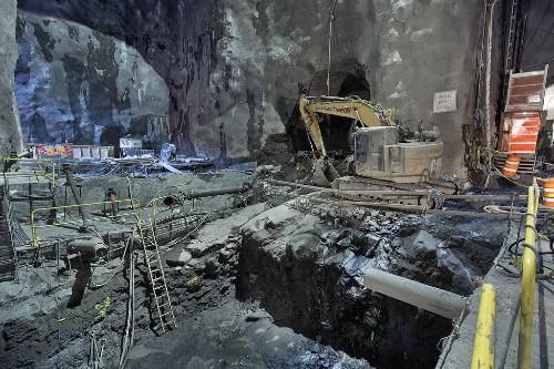 Watch construction crews burrow under Manhattan to build a new subway line