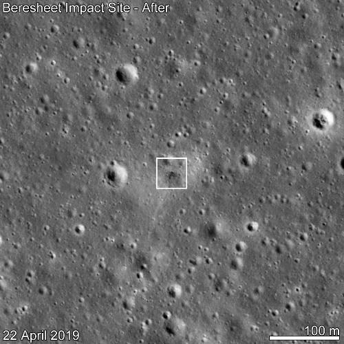 NASA spacecraft spots doomed lunar lander's crash site on Moon's surface