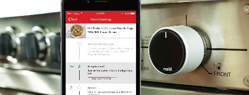 The Meld smart knob takes over your stove to do the cooking