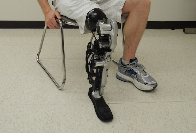 See the world's first mind-controlled prosthetic leg in action
