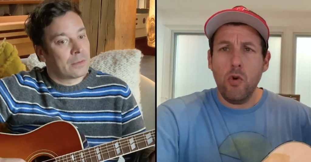 Adam Sandler and Jimmy Fallon duet to remind you not to touch your grandma